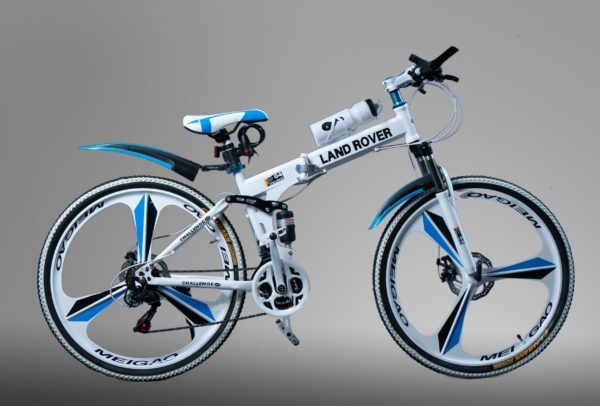 Велосипед на литых дисках Land Rover белый