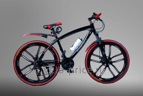 Велосипед на литых дисках Mercedes черный