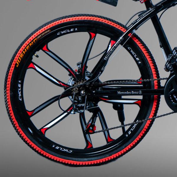 Велосипед на литых дисках Мерседес черный