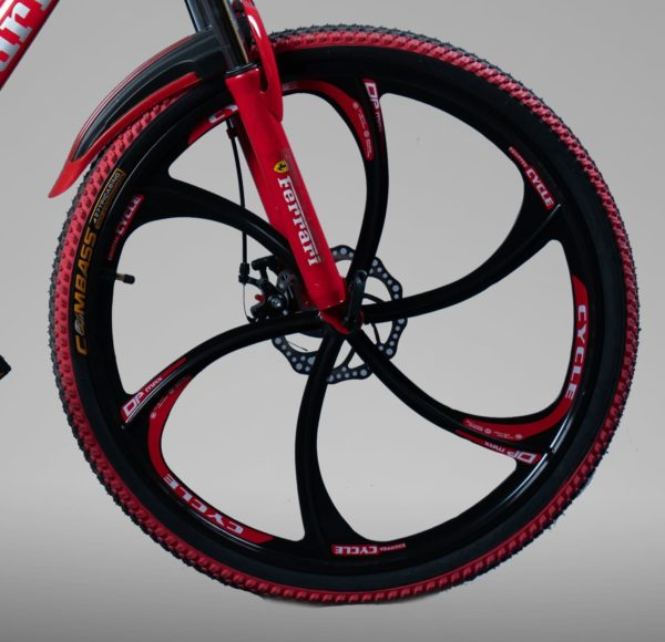 Велосипед на литых дисках ферари красный