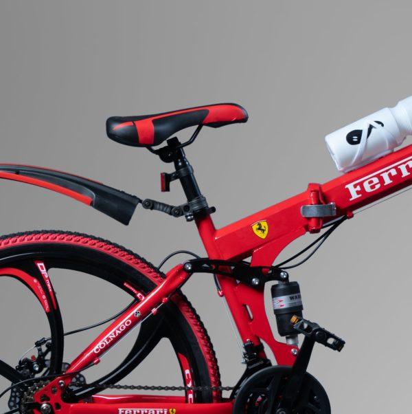 Велосипед на литых дисках складной ферари Красный