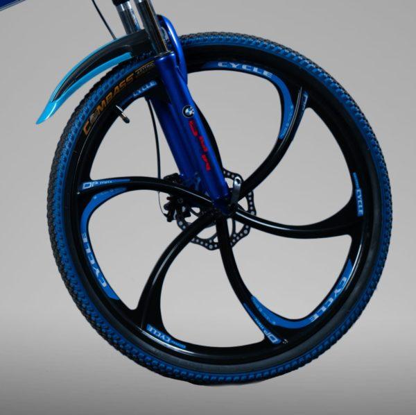 Велосипед складной БМВ синий на литых дисках