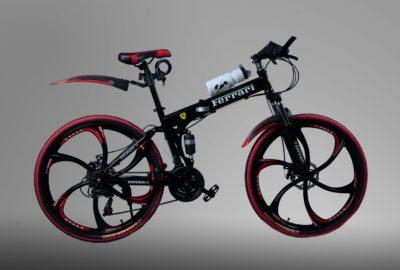Велосипед складной на литых дисках Ferrari Черный