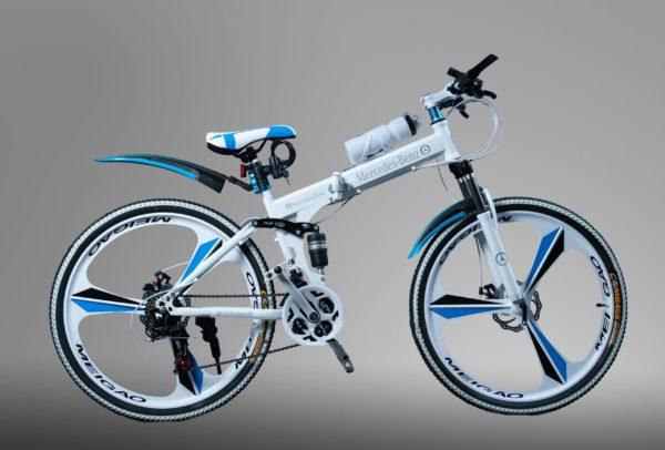 Велосипед складной на литых дисках Mercedes белый