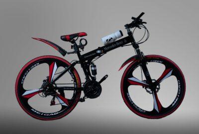 Велосипед складной на литых дисках Mercedes черный
