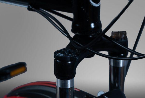 Велосипед складной на литых дисках Мерседес черный